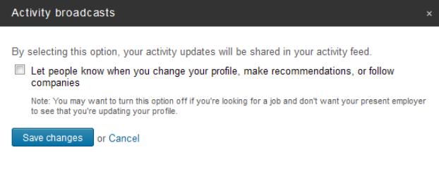如何仅在LinkedIn上公开您想公开的内容