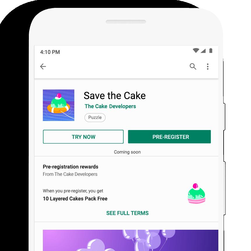 Google Play发布:预注册