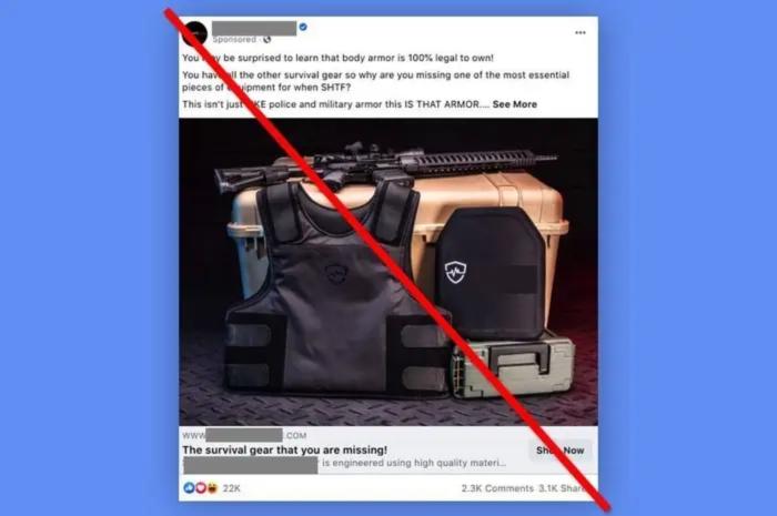 Facebook宣布拜登就职前暂停运营枪支配件和军事装备广告